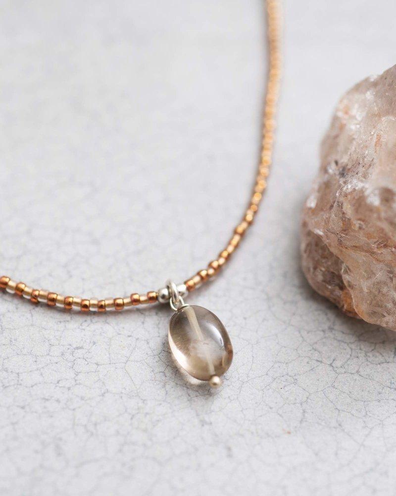 Magical Necklace Smokey Quartz Silver