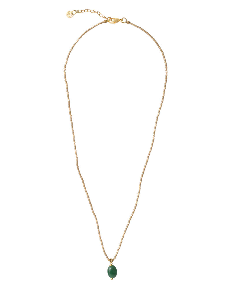 Magical Necklace Aventurine Gold