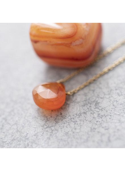 A Beautiful Story Divine Necklace Carnelian Gold