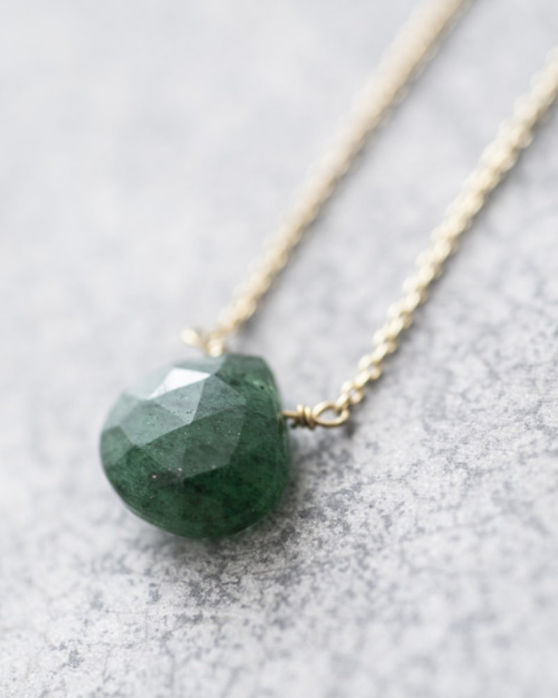 A Beautiful Story Divine Necklace Aventurine Gold
