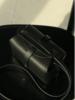 Steve Mono Box Bag 117 Veg Tan Calfskin Black