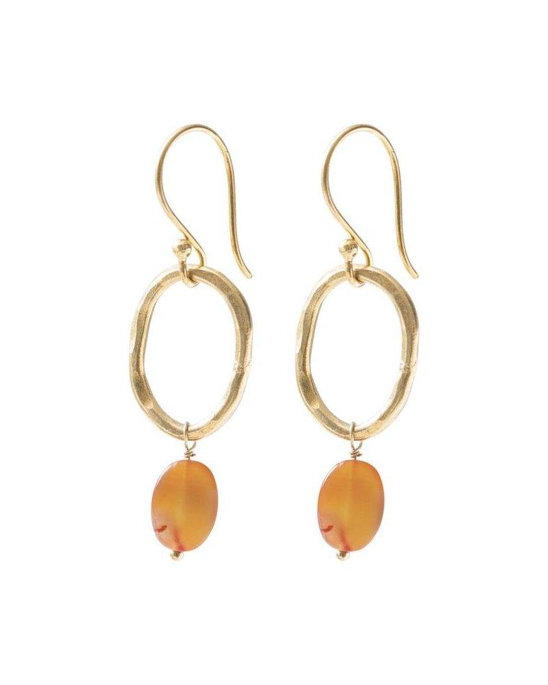 A Beautiful Story Graceful Earrings Carnelian Gold