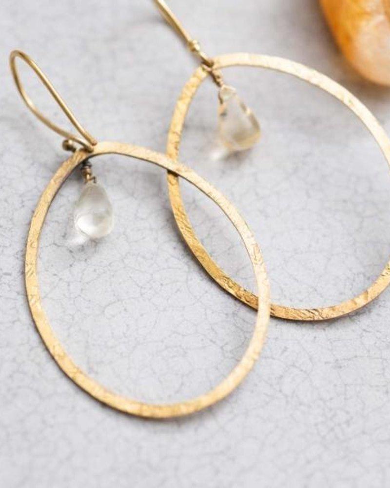 A Beautiful Story Ellipse Earrings Citrine Gold