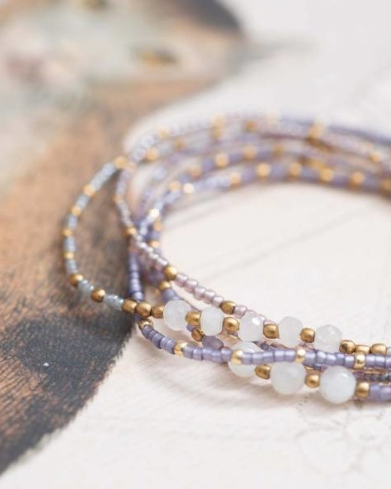 A Beautiful Story Together Bracelet Moonstone Gold