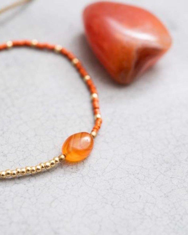 A Beautiful Story Ruby Bracelet Carnelian Gold