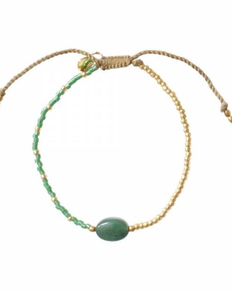 A Beautiful Story Ruby Bracelet Aventurine Gold
