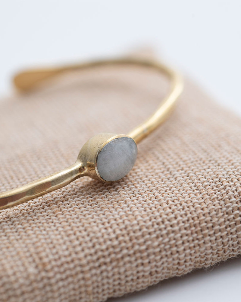 A Beautiful Story Moonlight Bracelet Moonstone Gold