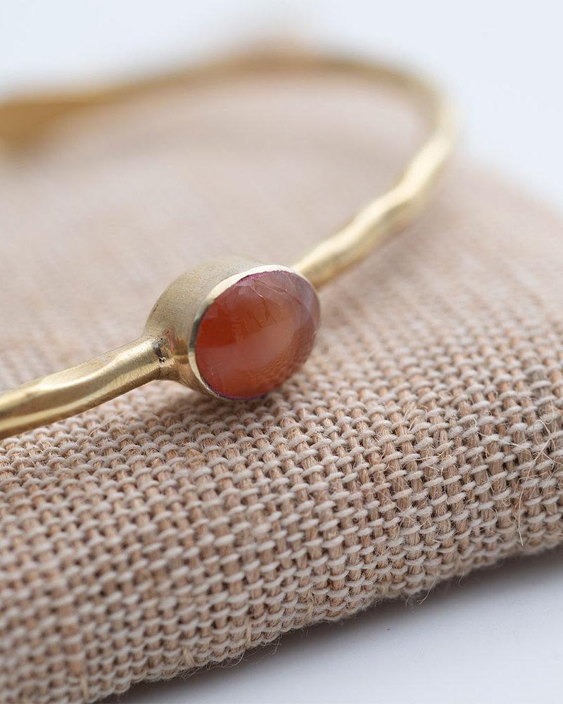 A Beautiful Story Moonlight Bracelet Carnelian Gold