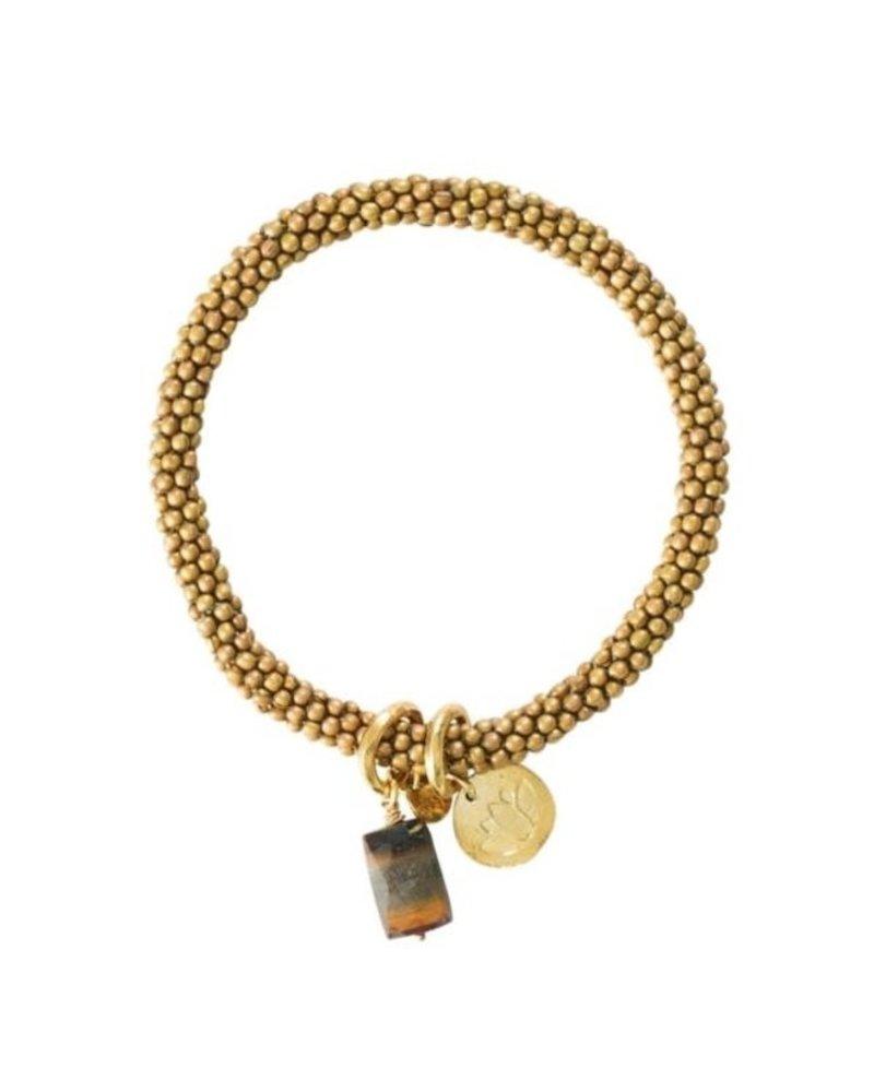 A Beautiful Story Jacky Bracelet Tiger Eye Lotus Gold