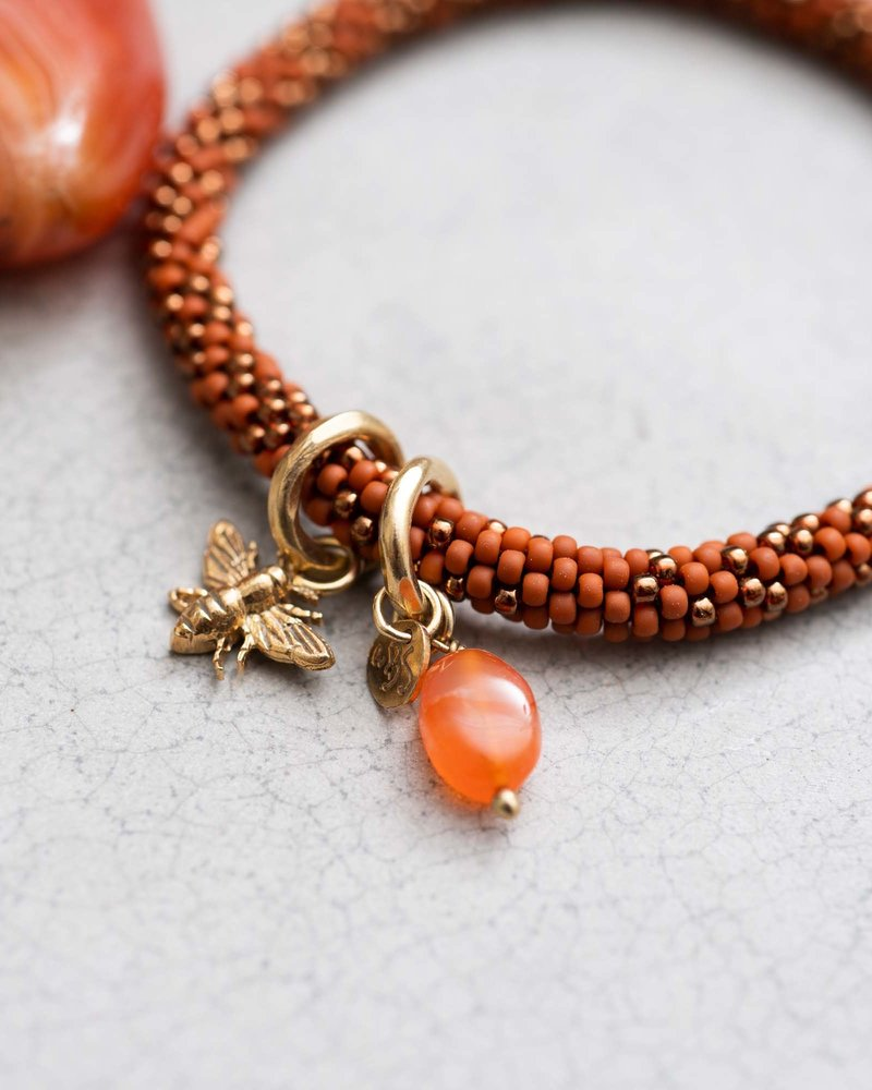 A Beautiful Story Jacky Bracelet Multi Color Carnelian Gold