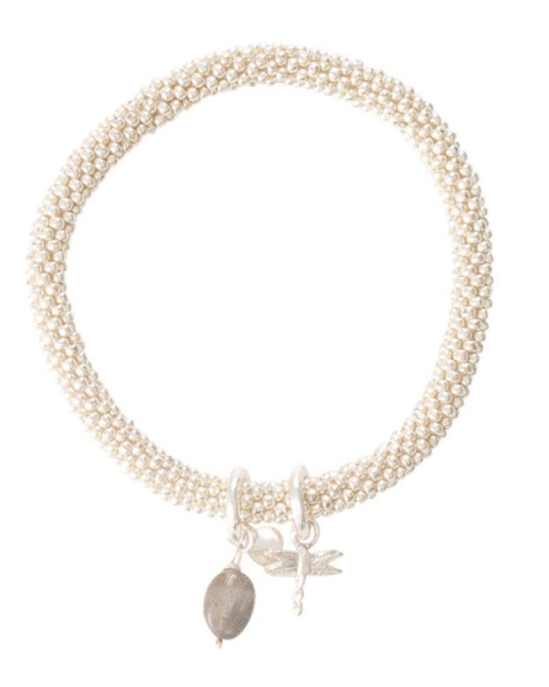 A Beautiful Story Jacky Bracelet Labradorite Dragonfly Silver