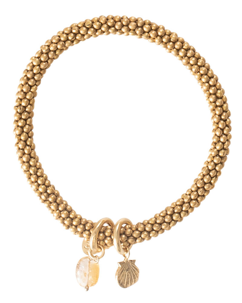 A Beautiful Story Jacky Bracelet Citrine Shell Gold