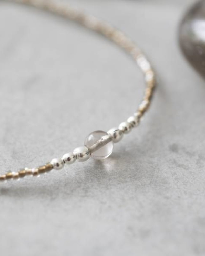 A Beautiful Story Iris Bracelet Smokey Quartz Silver