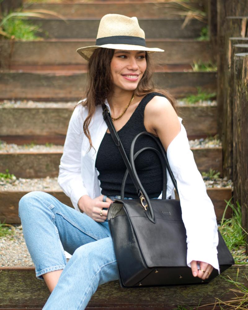 O My Bag Kate Black Stromboli Leather