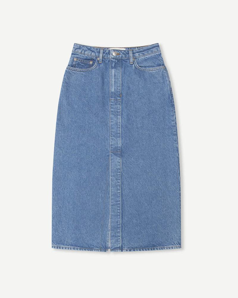 Silvia Long Skirt Mid Blue
