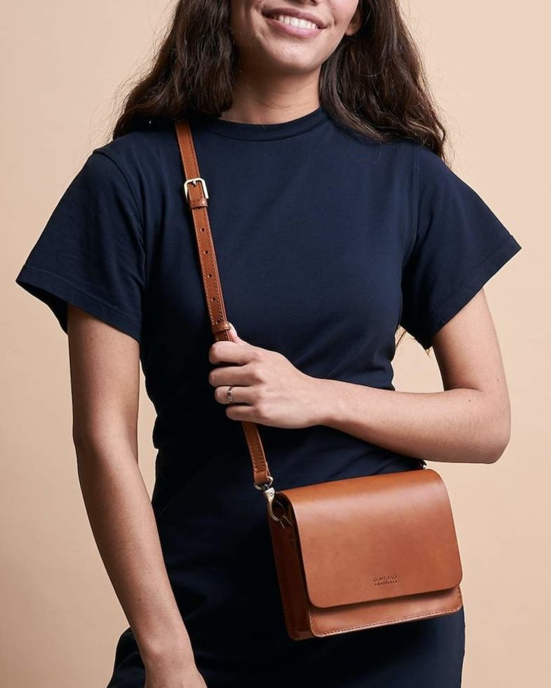 O My Bag Audrey Mini Classic Leather Checkered Strap