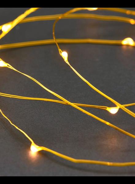 House Doctor String Lights Brass