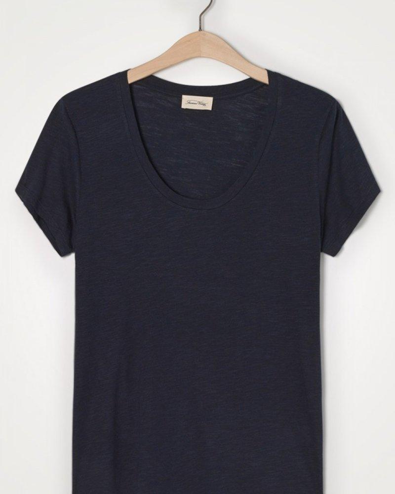 American Vintage Jacksonville T-shirt met korte mouwen Navy