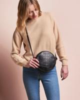 O My Bag Luna Bag Balck Croco/ Classic Leather