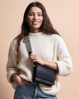 O My Bag Audrey Mini Classic Leather - Black/Checkered Strap