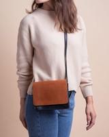 O My Bag Audrey Mini Classic Leather Black & Cognac