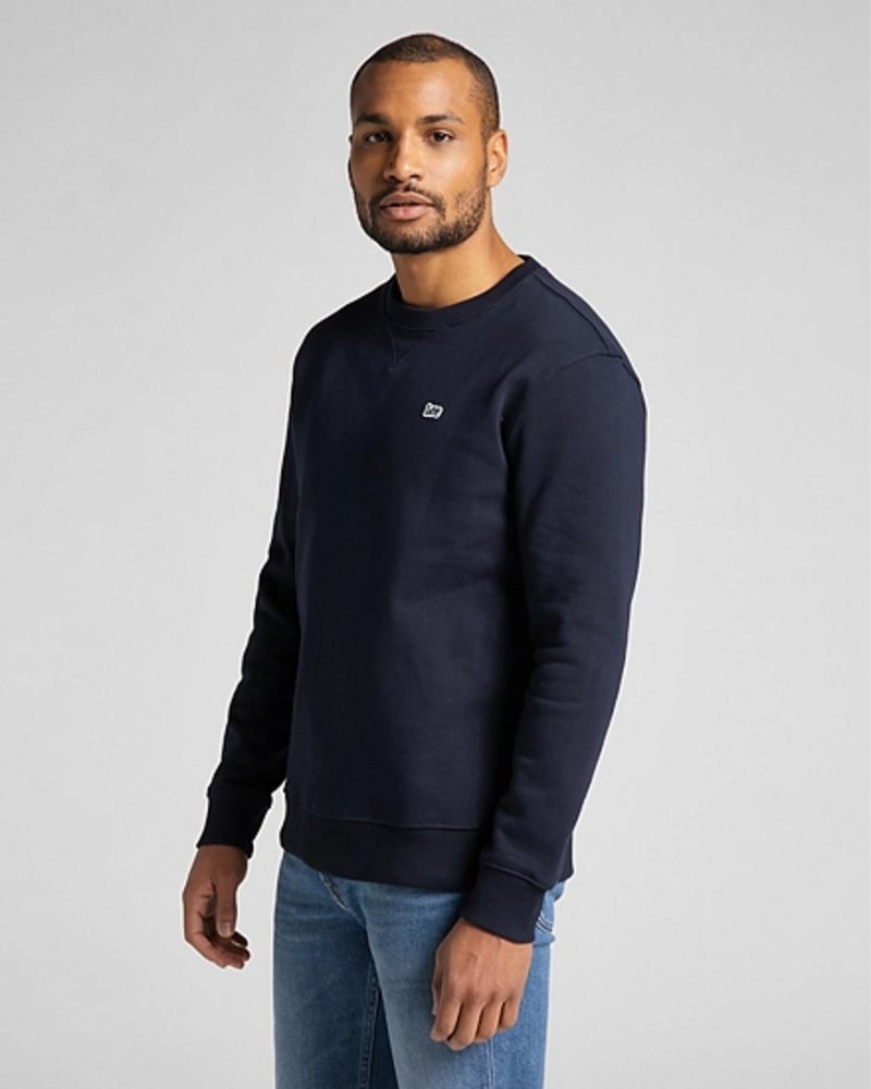 Lee Jeans Plain Crew Sweatshirt Midnight Navy