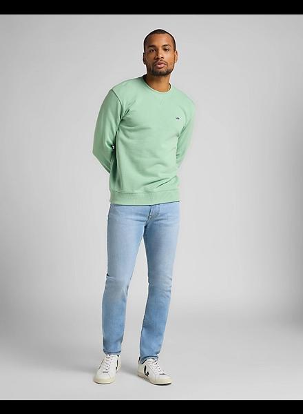 Lee Jeans Plain Crew Sweatshirt Green