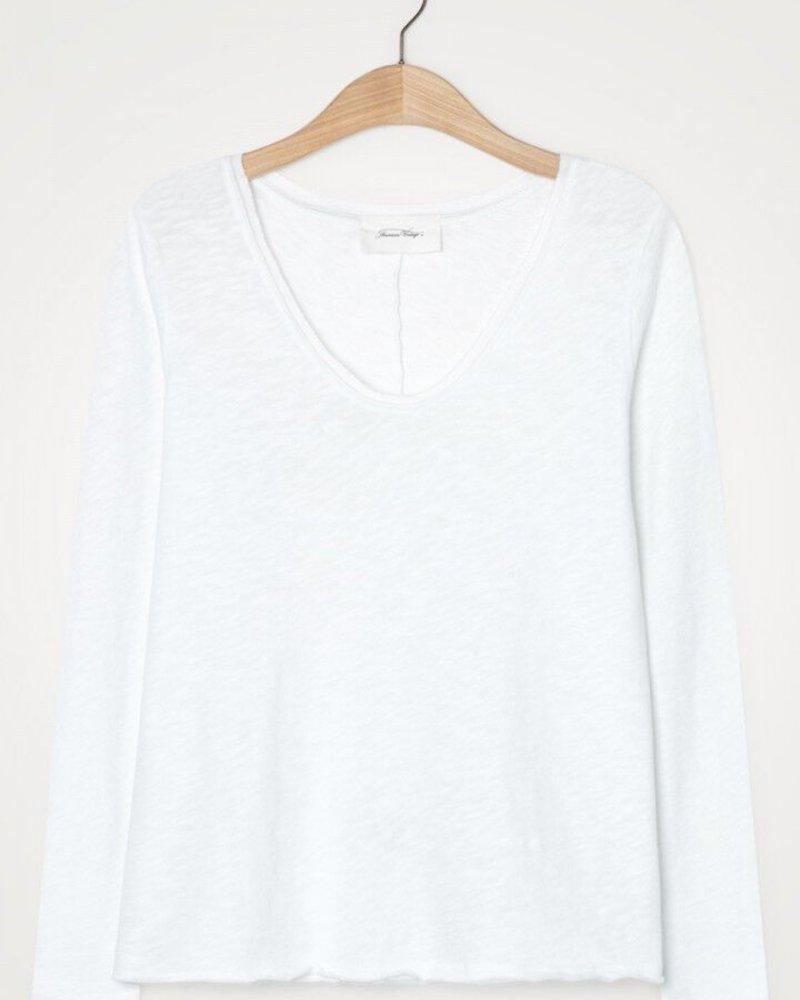 American Vintage AV W21 Sonoma Son34 T-shirt LM Col V Blanc