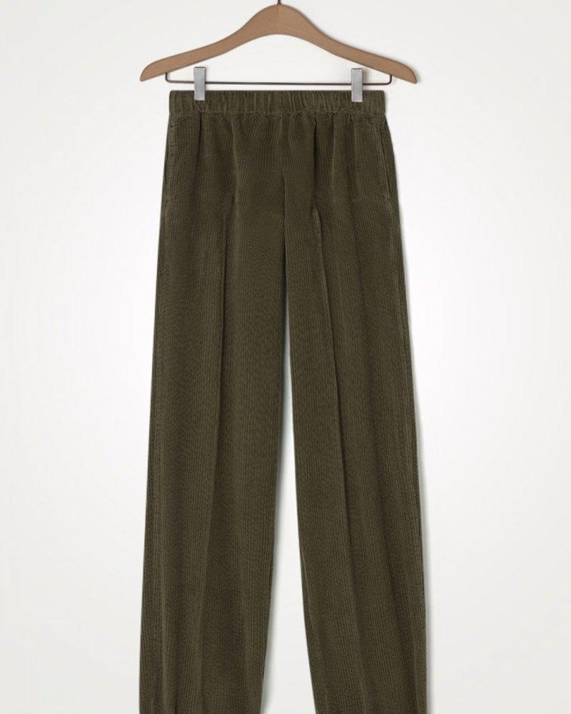 American Vintage Pantalon Carotte Taupe