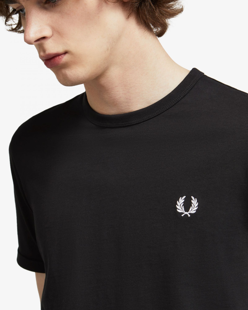FRED PERRY T-shirt Ringer Black