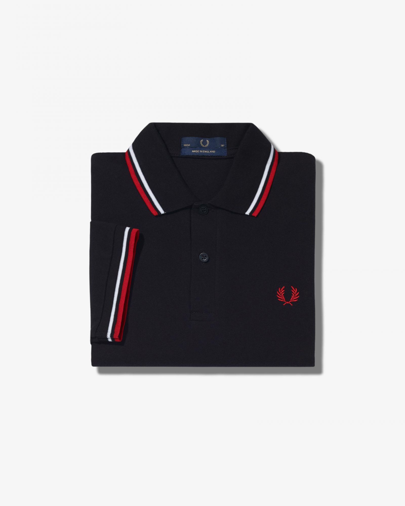 FRED PERRY Shirt Twin Tipped Navy/White