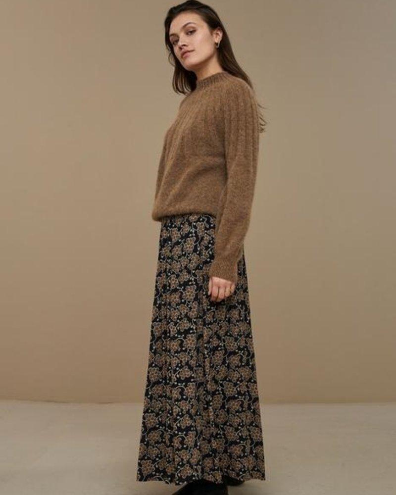 By Bar Lien Grapes Skirt Brown Print
