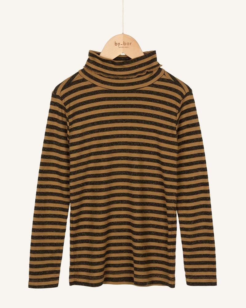 By Bar Basic Striped Rollneck Dry Khaki