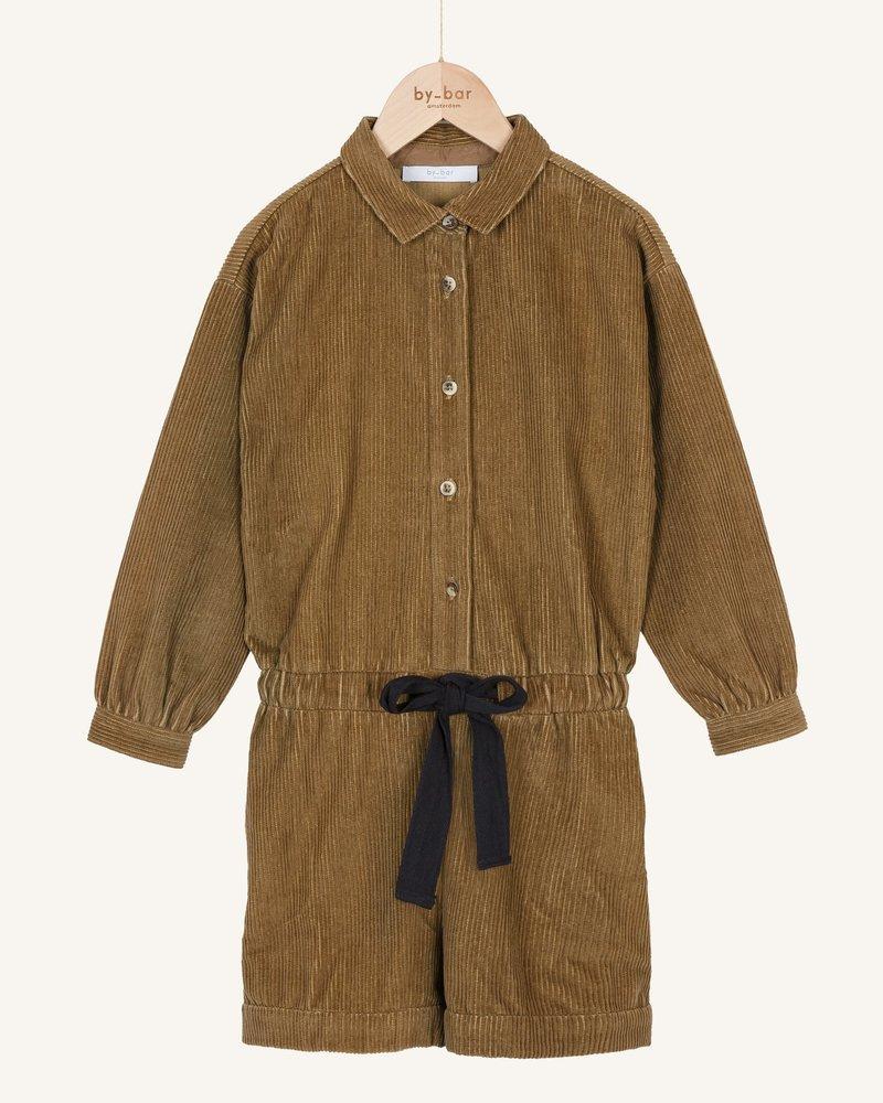 By Bar Rib Cord Suit Dry Khaki