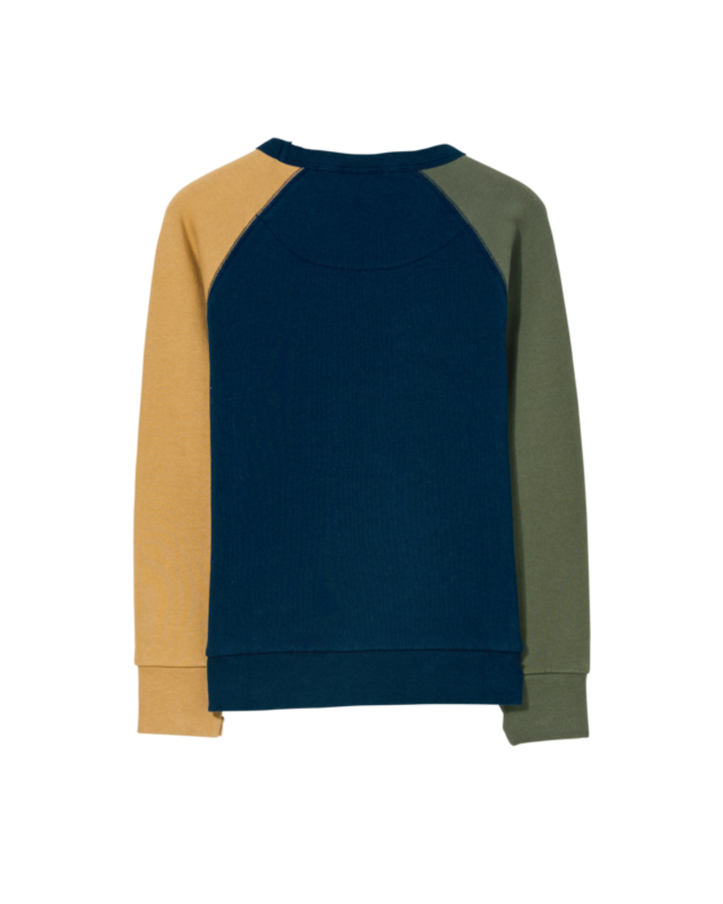Finger in the nose Hank Sweater Navy Colorblock