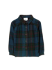 Finger in the nose Lakeview Shirt Navy Big Checkers