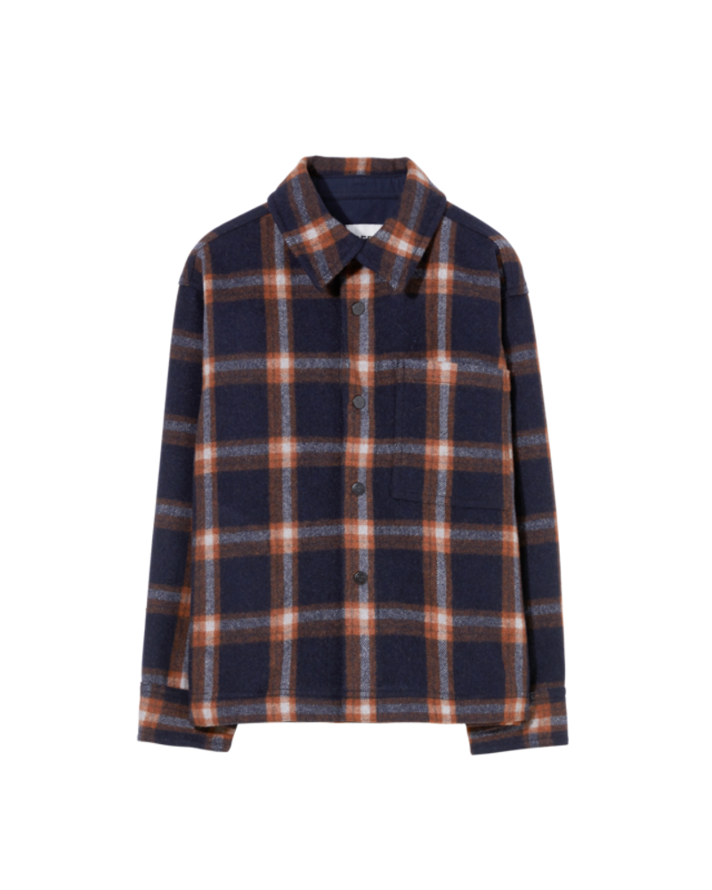 Finger in the nose Dova Overshirt Navy Checkers