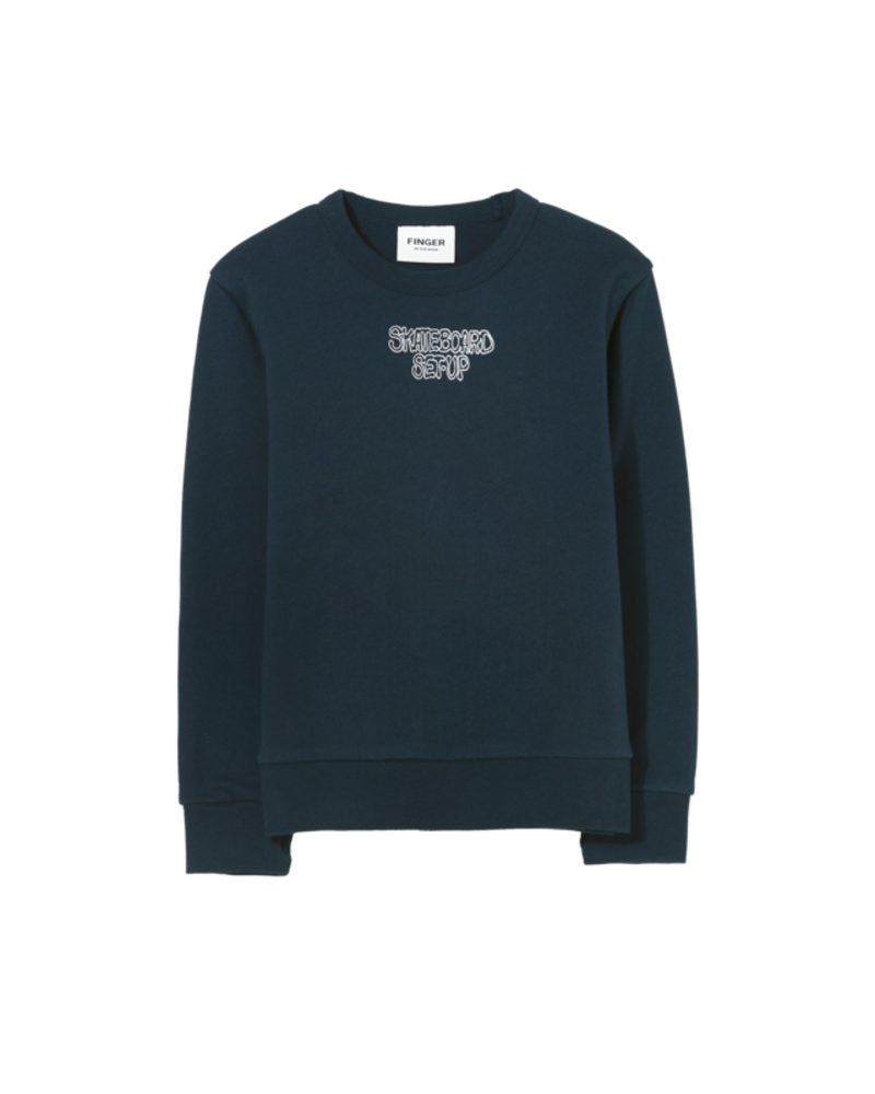 Finger in the nose Brian Sweater Navy Skateboard