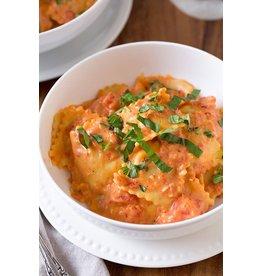 Raviolis veau sauce Esprit Traiteur (tomates,crème,romarin,graines de fenouil)