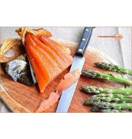 Cannellonis saumon fumé et asperges vertes crème safranée