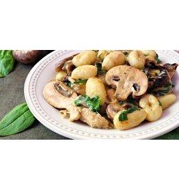 Filet de poulet aux champignons gnocchi au parmesan