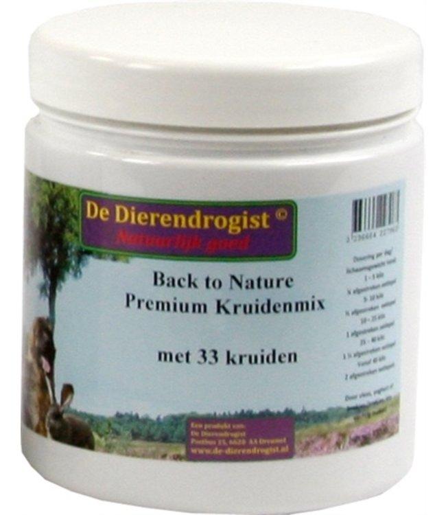 Dierendrogist back to nature premium kruidenmix met 33 kruiden
