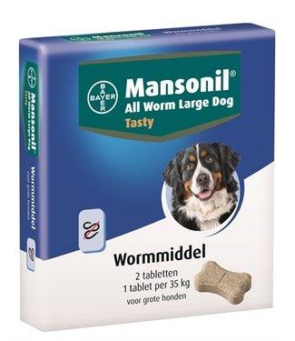 Mansonil Mansonil grote hond all worm tasty tabletten