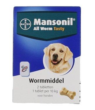 Mansonil Mansonil hond all worm tasty tabletten