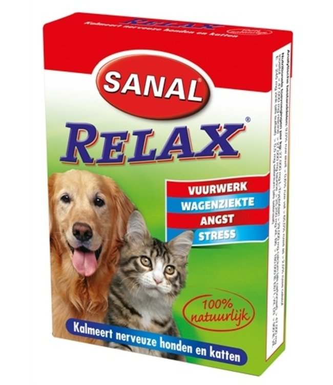 Sanal dog/cat relax kalmeringstablet