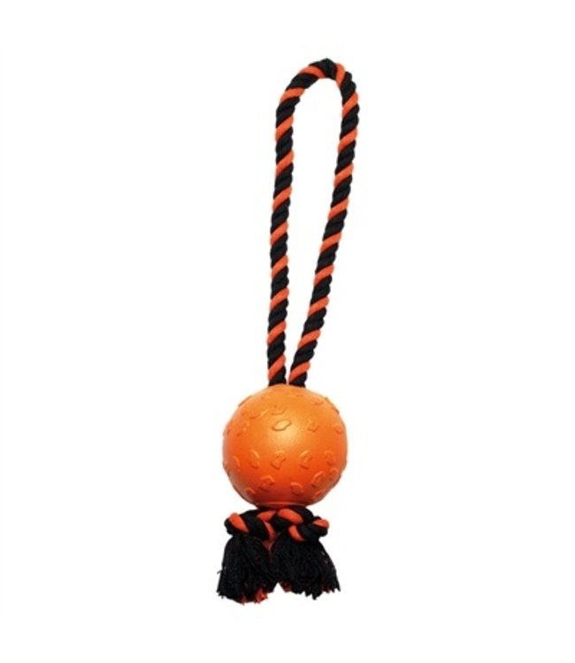 Happy pet tough toys ball tugger oranje