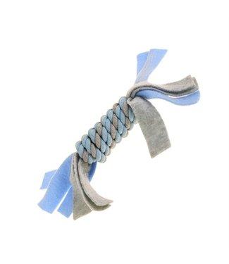 Little rascals Little rascals flostouw spoel met fleece blauw   22 CM
