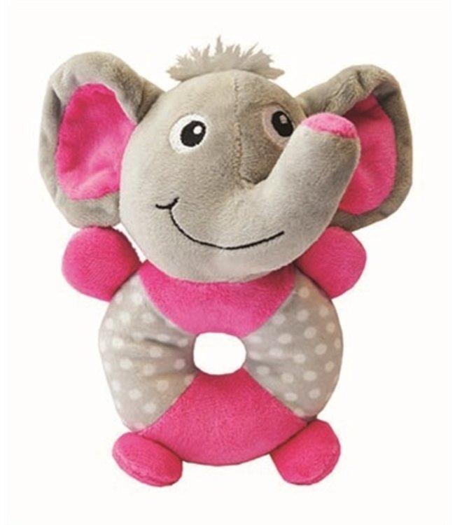 Little rascals pluche speelring olifant   21 CM
