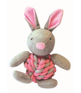 Little rascals Little rascals knottie bunny touwbal konijn roze   20 CM