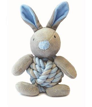 Little rascals Little rascals knottie bunny touwbal konijn blauw   20 CM